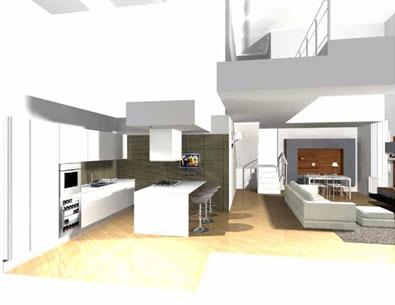 Progettazione e arredamento su misura - Sala e cucina ...
